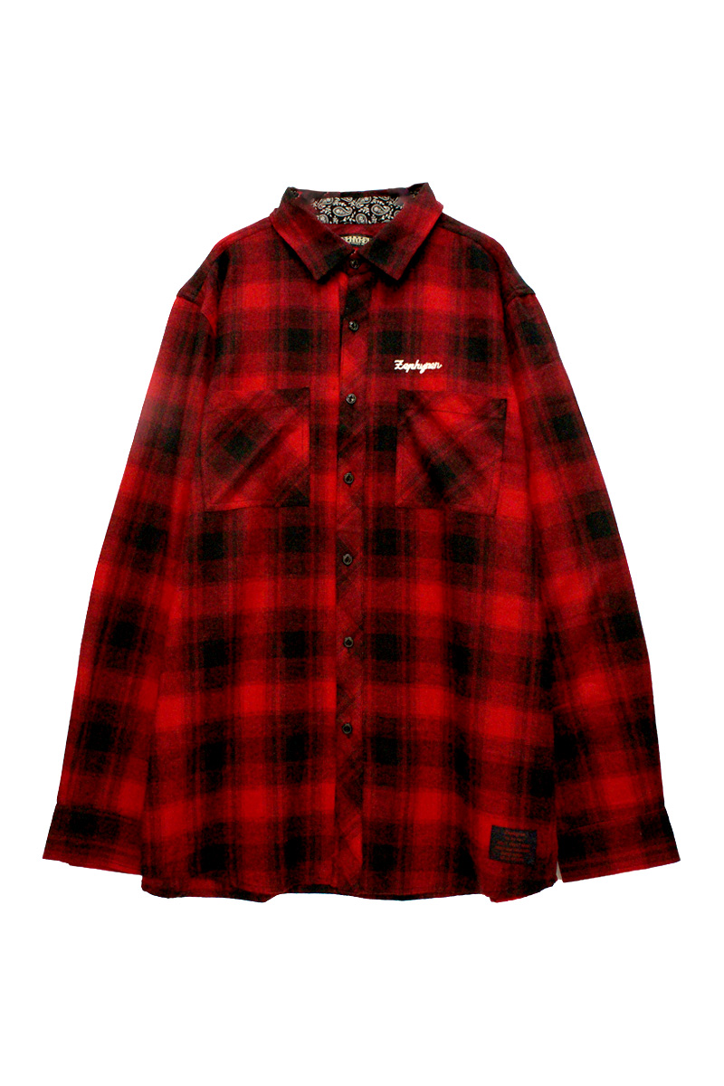 CHECK SHIRT L/S RED