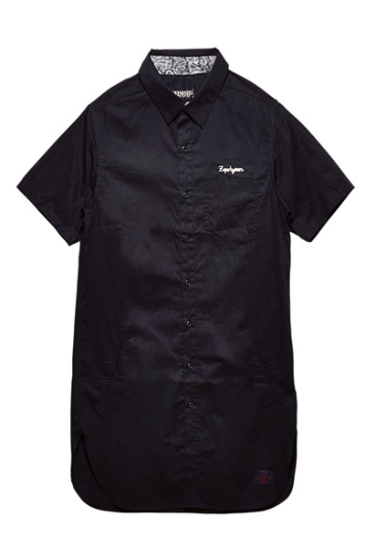LONG SHIRT S/S -Resolve- BLACK
