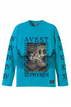 A.V.E.S.T project vol.14 L/S TEE TURQUOISE