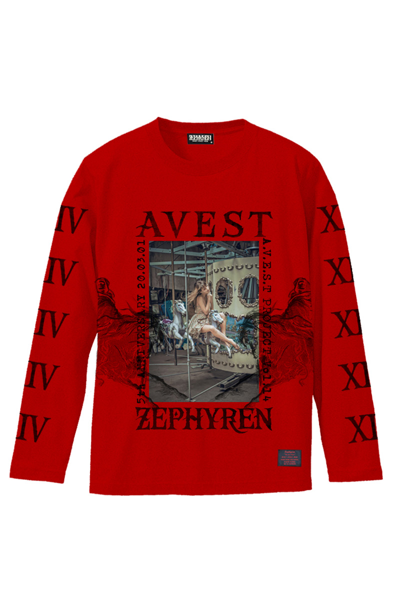 A.V.E.S.T project vol.14 L/S TEE RED