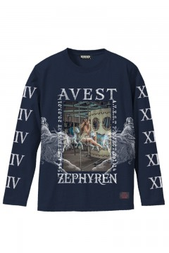 A.V.E.S.T project vol.14 L/S TEE NAVY
