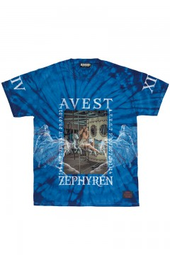A.V.E.S.T project vol.14 S/S TEE TIEDYE BLUE