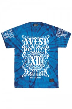 A.V.E.S.T project vol.12 S/S TEE -PENTACLE- BLUE TIE DYE