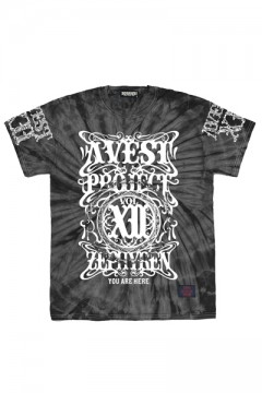 A.V.E.S.T project vol.12 S/S TEE -PENTACLE- BLACK TIE DYE