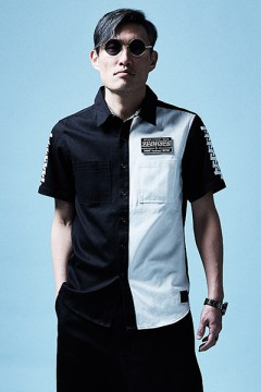EMBLEM SHIRT S/S BLACK / WHITE / Cut the world