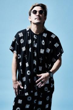PONCHO TEE S/S BLACK / 如意宝珠