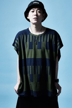 BIG TEE S/S KHAKI / NAVY