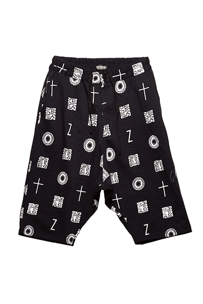 SAROUEL SWEAT SHORTS  BLACK / 如意宝珠