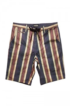 CHECK STRIPE SHORTS PURPLE STRIPE