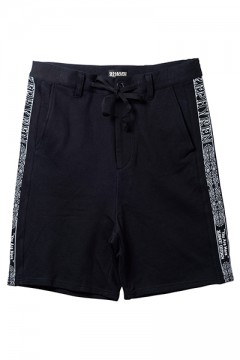TAPE SWEAT SHORTS BLACK