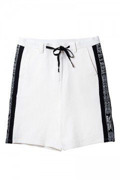 TAPE SWEAT SHORTS WHITE