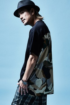 SWITCHING BIG TEE S/S BLACK / CAMO