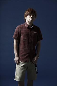 SPASHED SHIRT S/S -Resolve- BURGUNDY