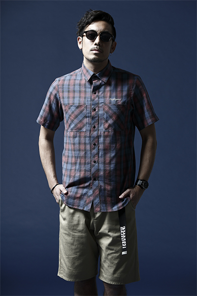 CHECK SHIRT S/S -Resolve- NAVY