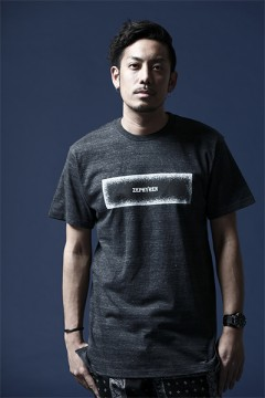 LONG S/S TEE -STATIC- HEATHER BLACK