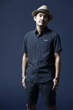 SPASHED SHIRT S/S -Resolve- NAVY