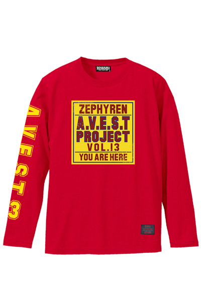 A.V.E.S.T project vol.13 L/S TEE RED