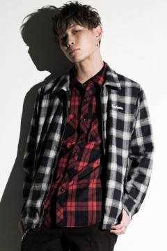 Zephyren (ゼファレン) CHECK SHIRT L/S -Resolve- RED
