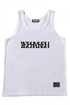TANK TOP -VISIONARY- BLACK/WHITE