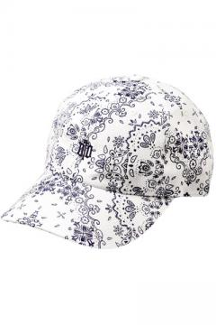 6 PANEL CAP -ENGRAVE-WHITE
