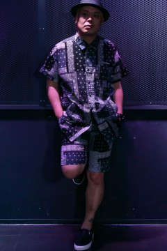 【予約商品】SUMMER SHORTS BLACK PAISLEY