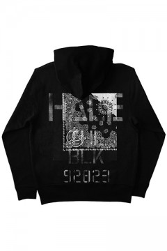 ZIP PARKA -Inhale the black- BLACKxBLACK