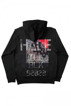 ZIP PARKA -Inhale the black- BLACKxNAVY