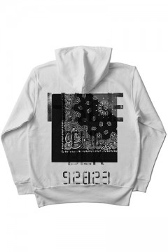 ZIP PARKA -Inhale the black- WHITE