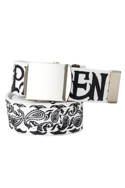 PAISLEY G.I BELT WHITE