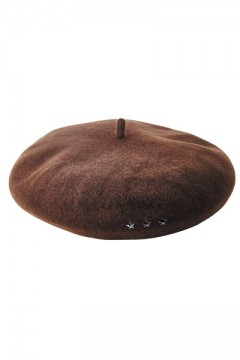STAR STUDS BERET BROWN