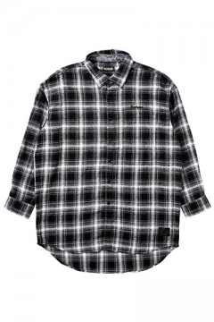 BIG CHECK SHIRT -Resolve- BLACK