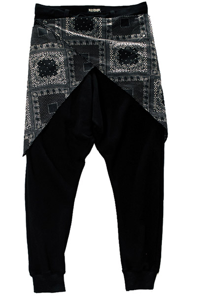 WAIST CLOTH SAROUEL PANTS BLACK