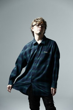 BIG CHECK SHIRT -Resolve- NAVY