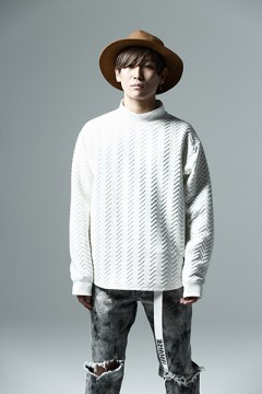 QUILT SWEAT WHITE