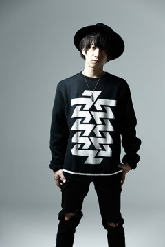 BIG JAGUARD KNIT -Cut the world- BLACK