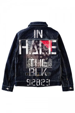 DENIM JKT NON-WASHxInhale-the-black