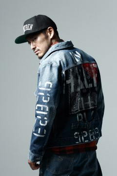 DENIM JKT HARD-WASHxInhale-the-black