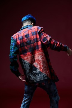 BANDANNA SHIRT L/S -INTAGRAL- RED/GREEN