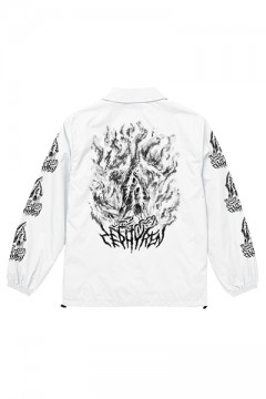 COACH JACKET -PRAY / PRAYING HAND- WHITE/PRAING HANDS