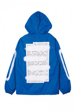 HOOD COACH JACKET -PLEDGE- BLUE