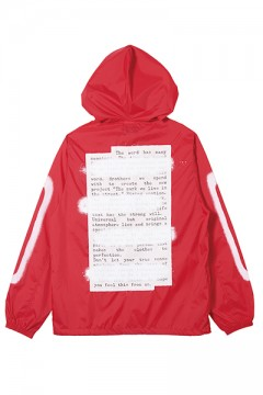 HOOD COACH JACKET -PLEDGE- RED