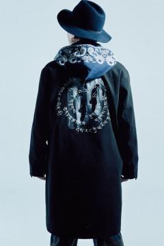 【予約商品】Zephyren(ゼファレン) STAIN COLLAR COAT BLACK / Creux