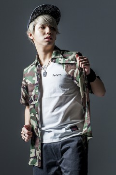 BANDANA SHIRT S/S-Inhale the black- CAMO