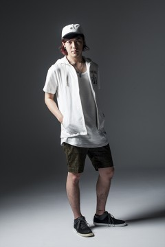 HOOD SHIRT S/S -ENGRAVE- WHITE