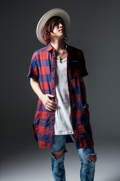 LONG SHIRT S/S -Resolve- NAVYxRED