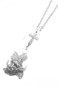 METAL NECKLACE-Sing as pray- ANTIQUE SILVER