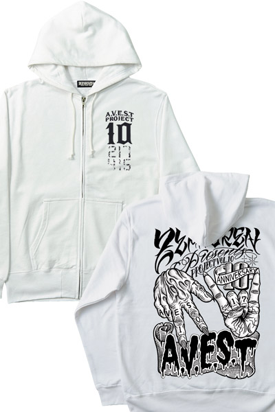 ZIP PARKA -melt hand- WHITE