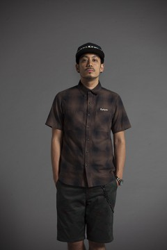 CHECK SHIRT S/S -Resolve- BRN
