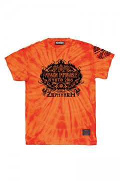 S/S TEE 京都大作戦2018×Zephyren FLAMES ORANGE TIE DYE