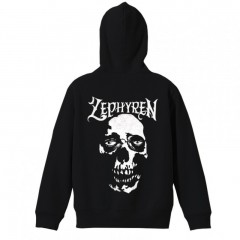 ZIP PARKA - SKULL HEAD - BLACK